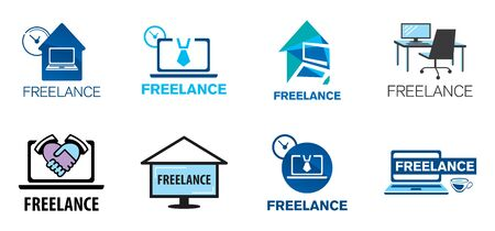 Vector for freelancing, remote work