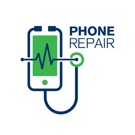 Vector logo for phone repair
