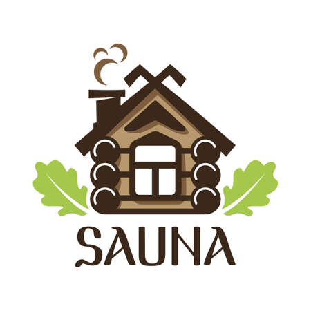 Vector  of sauna and bathhouse