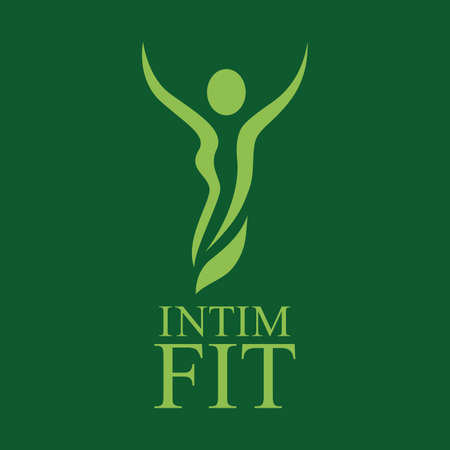 Vector logo for intimate fitness 일러스트