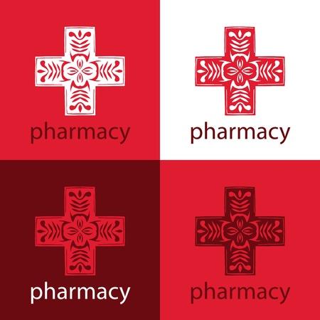 red medicine logo Stock Vector - 18546065