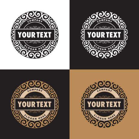 logos negocios: stillizovanny logotipo de la empresa de confiter�a