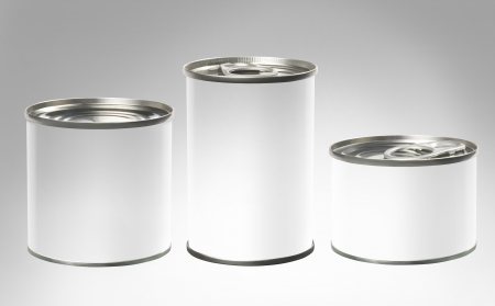 cylindrical packing container Stock Photo