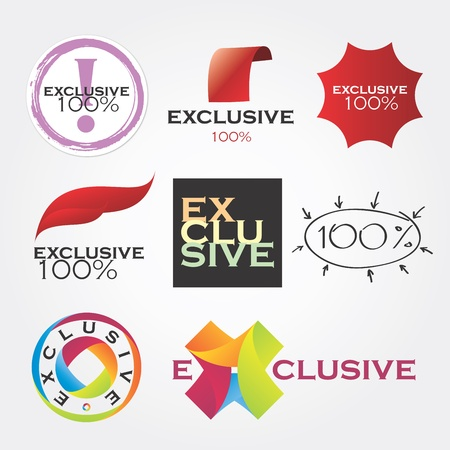exclusive: exclusive icon