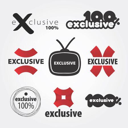 exclusive vector logos Stock Vector - 18563611