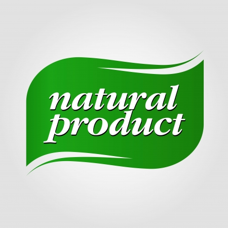 clothes label: green natural product brand Illustration
