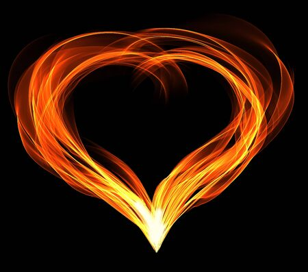 abstractly: abstractly fiery heart