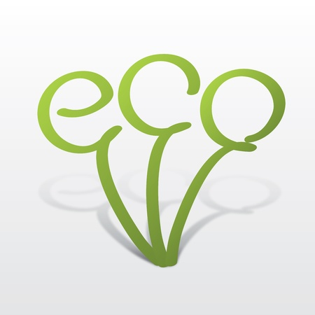 eco icon in the form of a germ