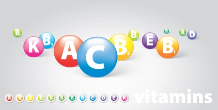 vector logo vitamins Vector