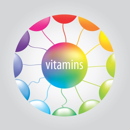 vitamins in the circle Stock Vector - 18587835