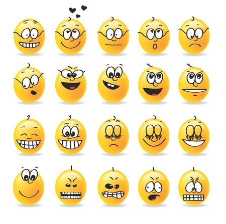 moods: vector smiley emotions moods