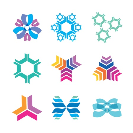 nanotechnology icons Stock Vector - 18650753