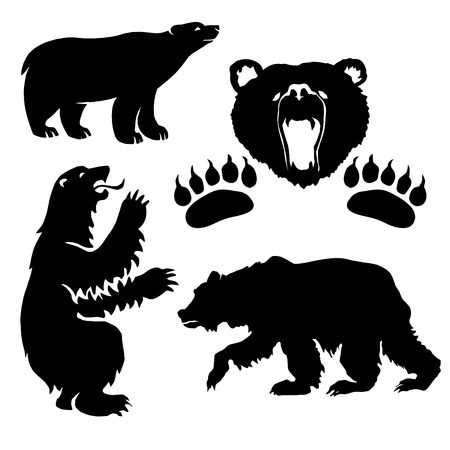 bear silhouette: silhouette bear Illustration