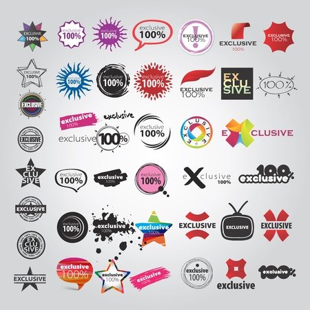 lens brush: vector the collection of logos signs pointers