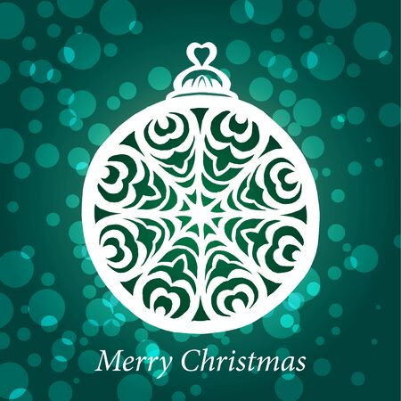 christmas toy snowflake handmade Vector