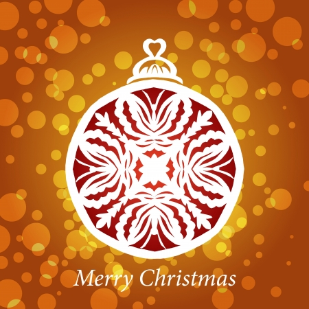vector lacy snowflake christmas decoration Vector
