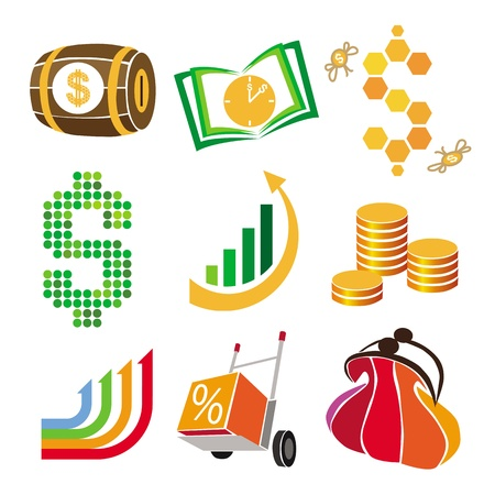collection of vector icons of finance, money Vector