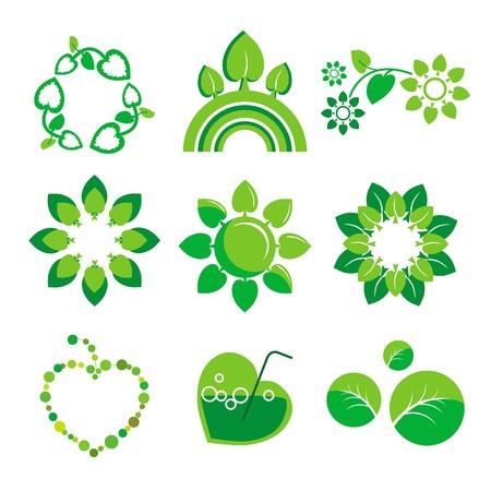 collection of vector logos health and the environment Stock Vector - 19740602