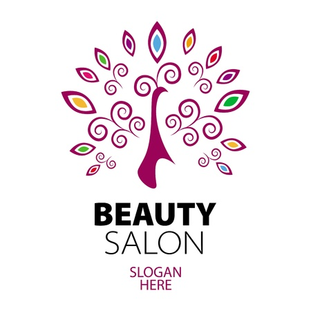 beauty salon: peacock logo for beauty salon
