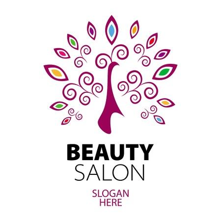 schönheit: Pfau-Logo für Beauty-Salon