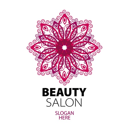 abstract logo lace for beauty salon  向量圖像