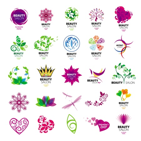 logos design: collection of vector logos for beauty salons