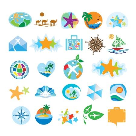 collection of icons for travel and tourism