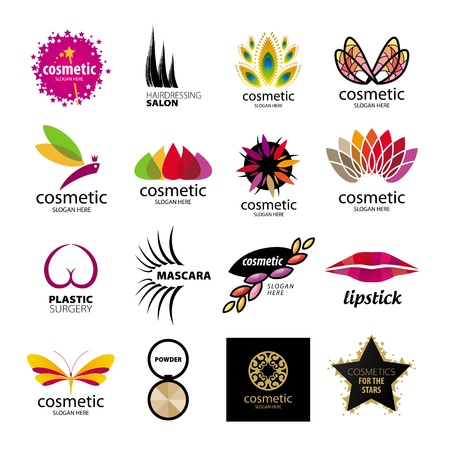 Collection of logos for cosmetics and body care