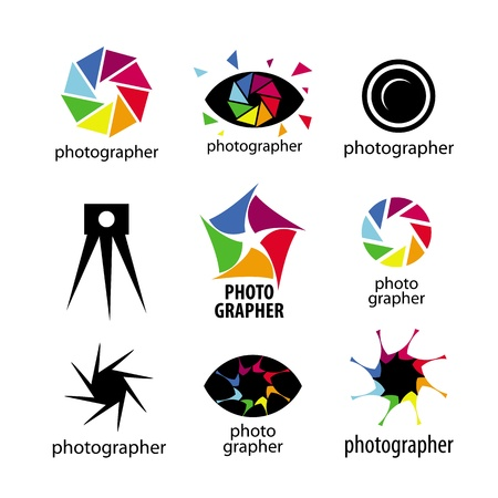 collection of logos for photographers and photo 向量圖像