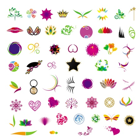 collection of icons for cosmetics beauty salons