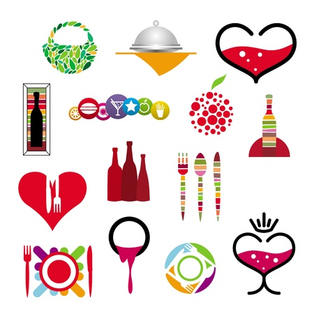collection of icons of restaurants and cafes Stock Vector - 20863763