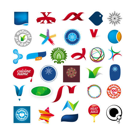 branded: branded collection of abstract symbols