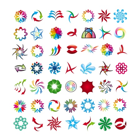 collection of abstract icons Stock Vector - 20874921
