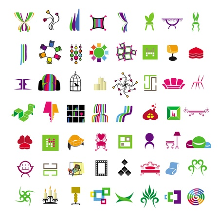 collection of icons of furniture and interior Stock Vector - 20874949