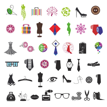 cufflink: series of icons for clothing and fashion accessories