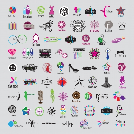 biggest collection of vector icons of fashion accessories and clothing Vector