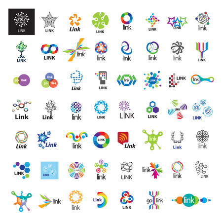biggest collection of vector icons link communication Vector