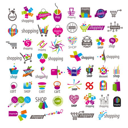 large collection of vector icons and shopping discounts basket