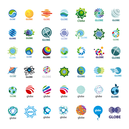 biggest collection of icons Globe Vector