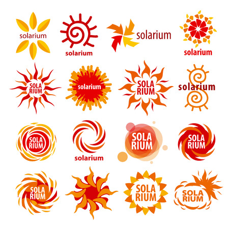 firms: vector collection of different icons for solarium Illustration