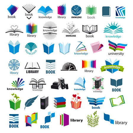 reading a book: biggest collection of vector icons books Illustration
