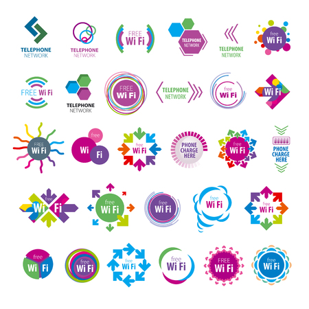 biggest collection of vector icons Wi fi  Illustration