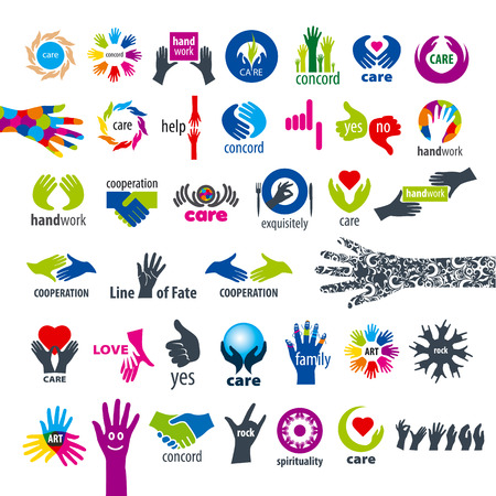 biggest collection of vector icons hands  Vector