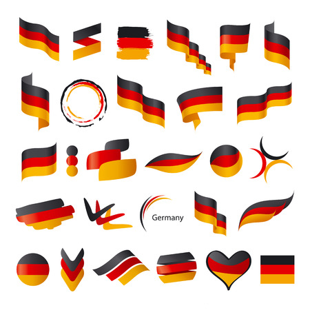 biggest collection of vector flag of Germany Stok Fotoğraf - 29862542