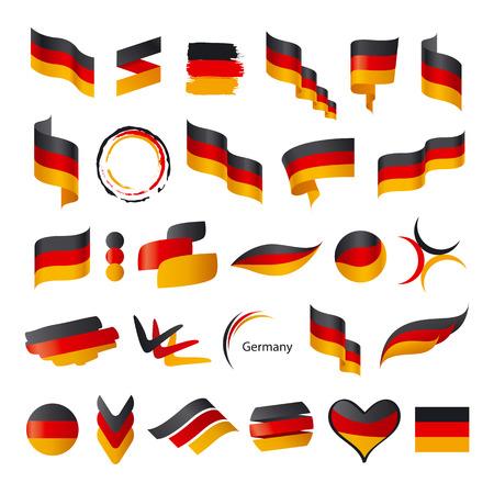 bandera de alemania: mayor colecci�n de vector de la bandera de Alemania Vectores