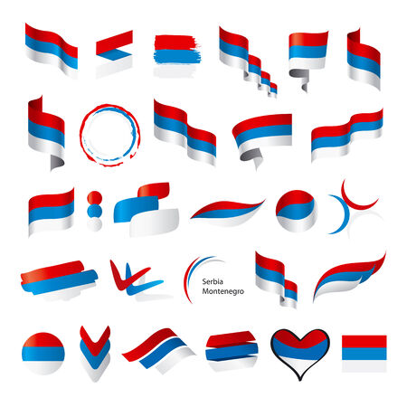 serbia and montenegro: biggest collection of vector flags of Serbia Montenegro Illustration