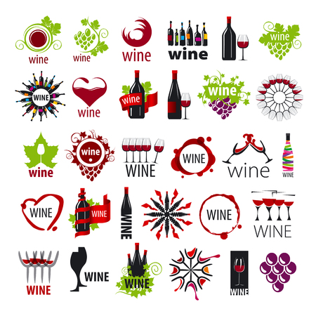 production plant: biggest collection of vector icons wine