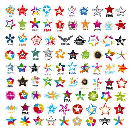 estrellas cinco puntas: mayor colecci�n de iconos de estrellas de cinco puntas Vectores