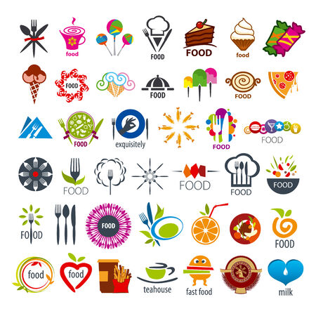 biggest collection of vector icons food Vector