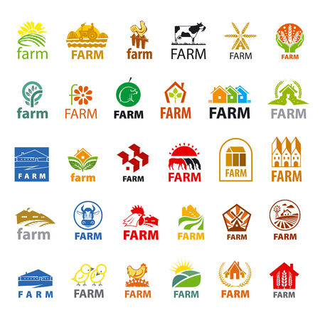 large set of vector icons farm Illustration